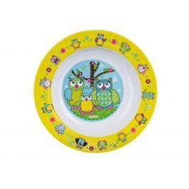 BANQUET Talíř melaminový hluboký OWLS 20 x 3 cm