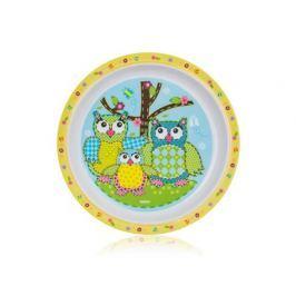 BANQUET Talíř melaminový mělký OWLS 21 cm