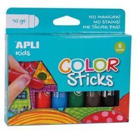 APLI Temperové tyčinky Kids, 6 různých barev,