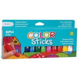 APLI Temperové tyčinky Kids, 12 různých barev,