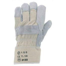 NO NAME Pracovní rukavice z kůže (hovězí štípenka) a bavlny, velikost 10, šedá/béžová