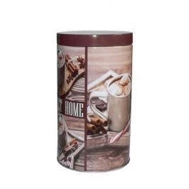 NO NAME Plechovka na kávu, se vzorem, 11x18 cm