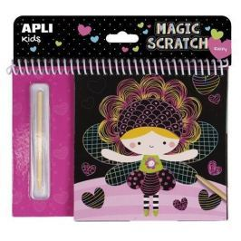 APLI Škrabací obrázky Magic Scratch Fairies, pohádky,