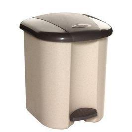 CURVER Odpadkový koš, hnědá/béžová, pedálový, plastový, 15 l,
