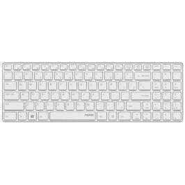 RAPOO bezdrátová klávesnice E9110/ 2,4GHz/ nízký zdvih/ USB/ bílá/ CZ+SK layout