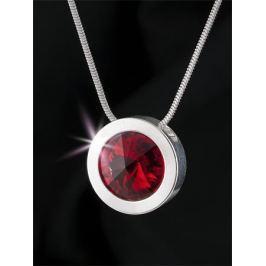 ART CRYSTELLA Náhrdelník, SWAROVSKI(R) Crystals, siam červená, postříbřený, 14 mm,