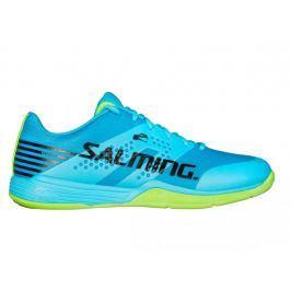 Salming Pánská sálová obuv  Viper 5 Men Shoe, 10,5 UK, Blue Atol/New Fluo Green