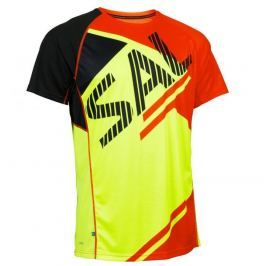 Salming Pánské běžecké triko  Bold Print Tee Yellow/Orange, S, Žlutá