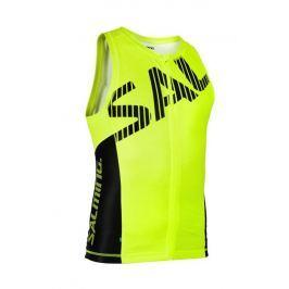 Salming Pánský cyklistický nátělník  Triathlon Singlet Men, L, Yellow/Black