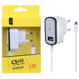 ALIGATOR Nabíječka PLUS MicroUSB s USB výstupem 5V/2,1A, černá