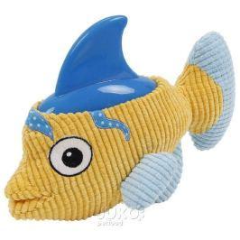 Plyšová hračka s termoplastickou gumou-Ryba 27x21cm-14095