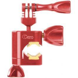 Rollei Cero Motorbike - Červený hliníkový držák na motorku pro kamery GoPro a Ro