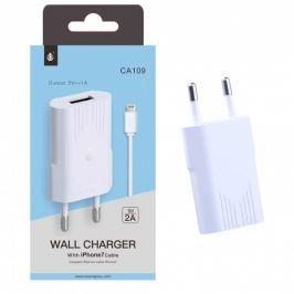 Aligator Nabíječka PLUS CA109, kabel pro iPhone7 s USB výstupem 5V/1A - bílá