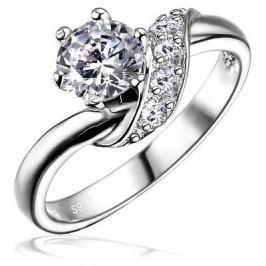 Silvego Stříbrný zásnubní prsten SHZR234, 49 mm