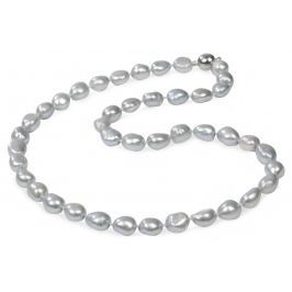 JwL Luxury Pearls Náhrdelník z šedostříbrných perel JL0067