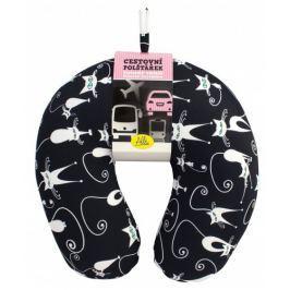 Albi Designový cestovní polštářek s černo-bílými kočkami