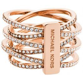 Michael Kors Pozlacený ocelový prsten s krystaly MKJ4424791, 54 mm