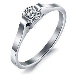 Troli Ocelový prsten s krystalem KRS-088, 49 mm