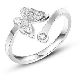 Troli Romantický ocelový prsten s motýlkem