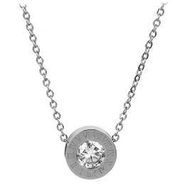 Troli Ocelový náhrdelník s třpytivým přívěskem