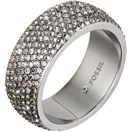 Fossil Třpytivý ocelový prsten JF02150040, 59 mm