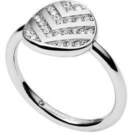 Fossil Ocelový třpytivý prsten JF02675040, 56 mm