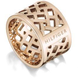 Tommy Hilfiger Originální pozlacený prsten z oceli TH2700744, 58 mm