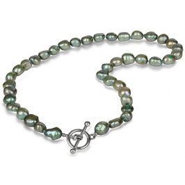 JwL Luxury Pearls Náhrdelník z pravých zelených perel JL0365
