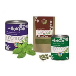 Moringa MIX Dárkové balení Moringa oleifera s mátou 100 g + Moringa oleifera s oregánem 30 g