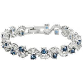 Troli Třpytivý náramek s modrými krystaly