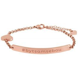 Troli Růžově pozlacený ocelový náramek #bytsamsebou