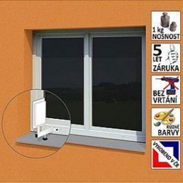 """OEM Anténní držák malý na plastové okno """"L"""", délka 17,5 cm, výška 25 cm, d=20mm"""