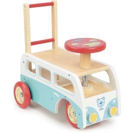 Vilac - Dřevěné chodítko autobus - modrý