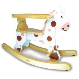Dřevěné hračky Vilac - Dřevěný houpací kůň bílý