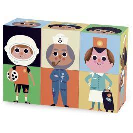 Vilac - zábavné dřevěné kostky postavičky