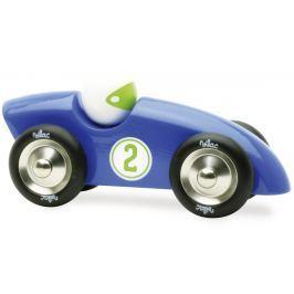 Vilac velké dřevěné závodní auto modré