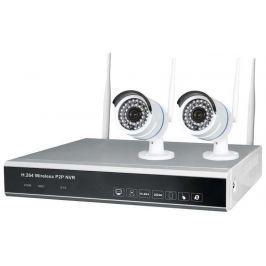 EMOS H5602 Security KIT, 4 kanály, 2 WiFi kamery, internet, vzdálená správa, bez