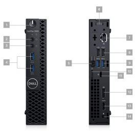 Dell OptiPlex 3060 Micro/ i5-8500T/ 4GB/ 128GB SSD/ Wifi/ W10Pro/ micro PC/ 3YNB