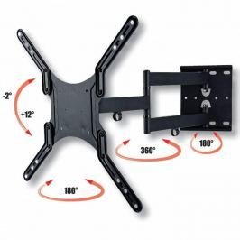 Techly nástěnný držák pro TV LCD/LED/PDP dvojitý 23-55'' 45 kg VESA černý