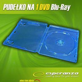 Esperanza Plastové krabičky na 1 Blu-ray 10mm | 100 ks, modré