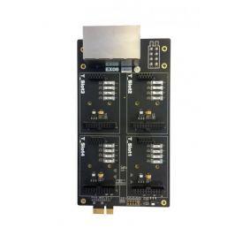 YEASTAR EX08 karta, 8 portů, 4 pozice pro S2, O2, SO, BRI, GSM