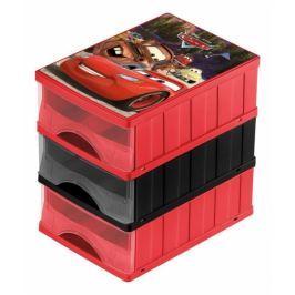 Keeeper Boxy na hračky - sada 3 šuplíků CARS