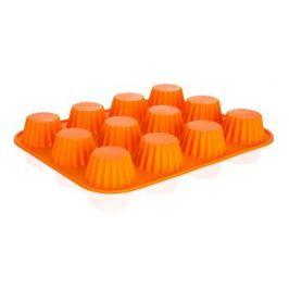 BANQUET Forma na 12 košíčků silikonová CULINARIA Orange 32 x 24 x 3,4 cm