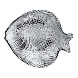 VETRO-PLUS Talíř skleněný RYBA 19,6 x 16 cm