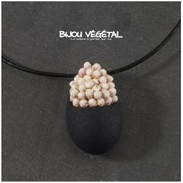 Živé šperky - Náhrdelník Slza černý s trvalými bílými květy