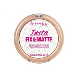 Rimmel Transparentní pudr s matujícím finišem (Insta Fix & Matte Powder) 8 g, 001 Translucent (průsvitný)