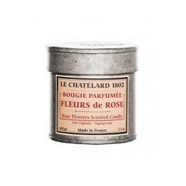 Le Chatelard Vonná svíčka v plechu s retro potiskem Růže 100 g