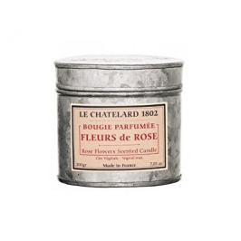 Le Chatelard Vonná svíčka v zinkové krabičce s víčkem Růže 200 g