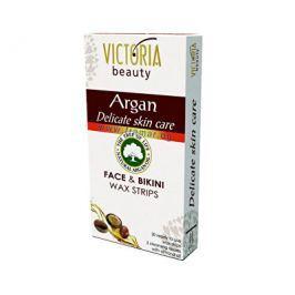 Victoria Beauty Depilační voskové pásky s arganovým olejem na nohy a tělo (Legs & Body Wax Strips) 2