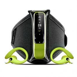Energy Sistem ENERGY Active 2 Neon Green 4GB, MP3 sportovní přehrávač, FM, USB, sluchátka, spo